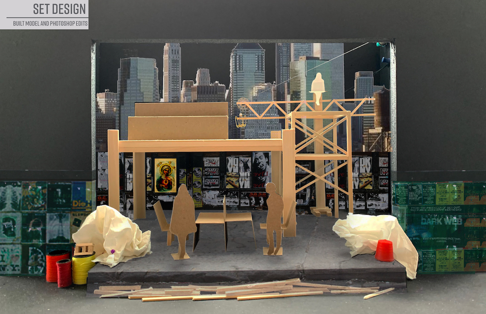 Set Design Act 1 by Noelani Montas '22 (Theater Design & Technology)