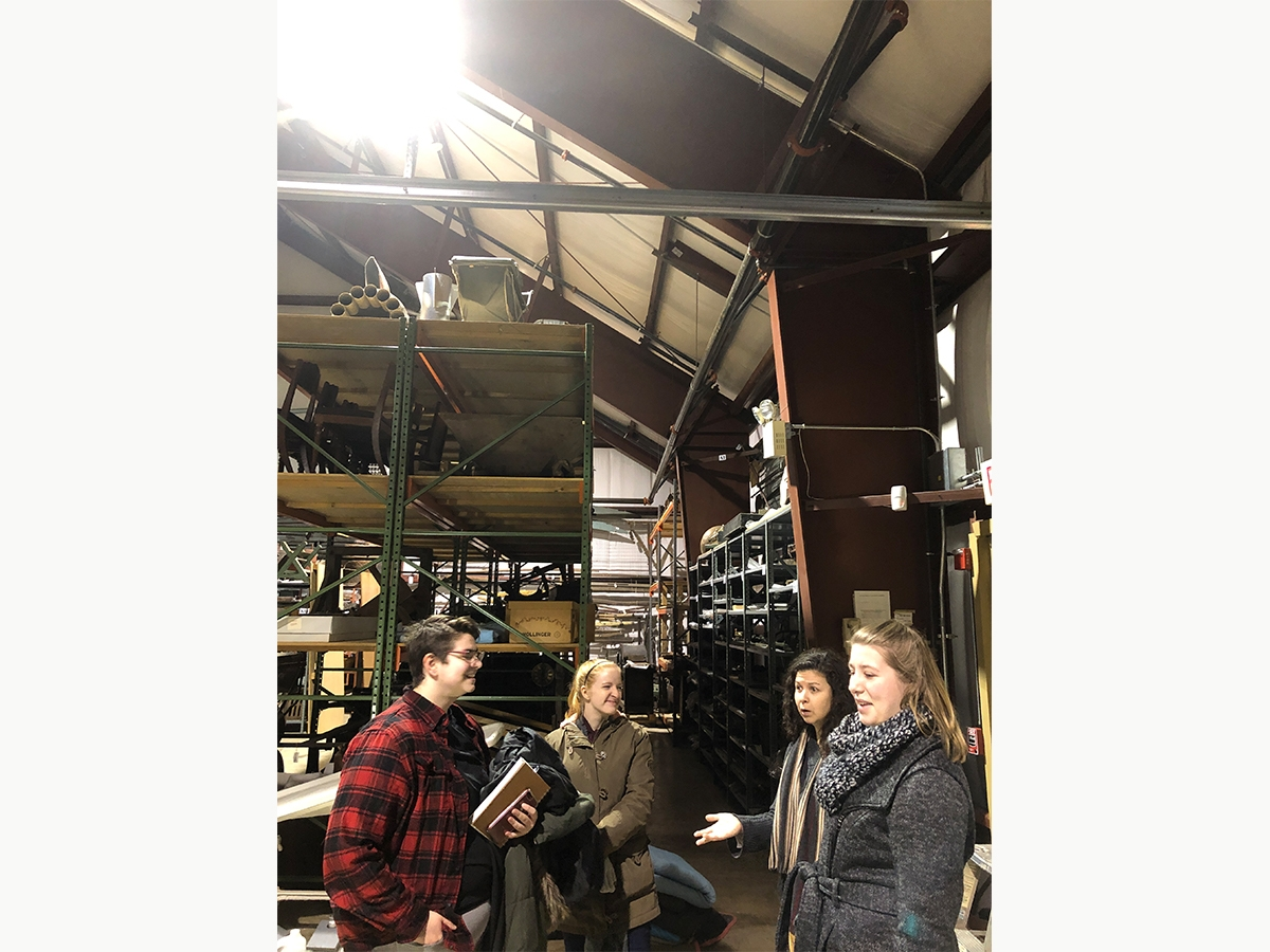 Students explore the archives at the Mercer Museum.