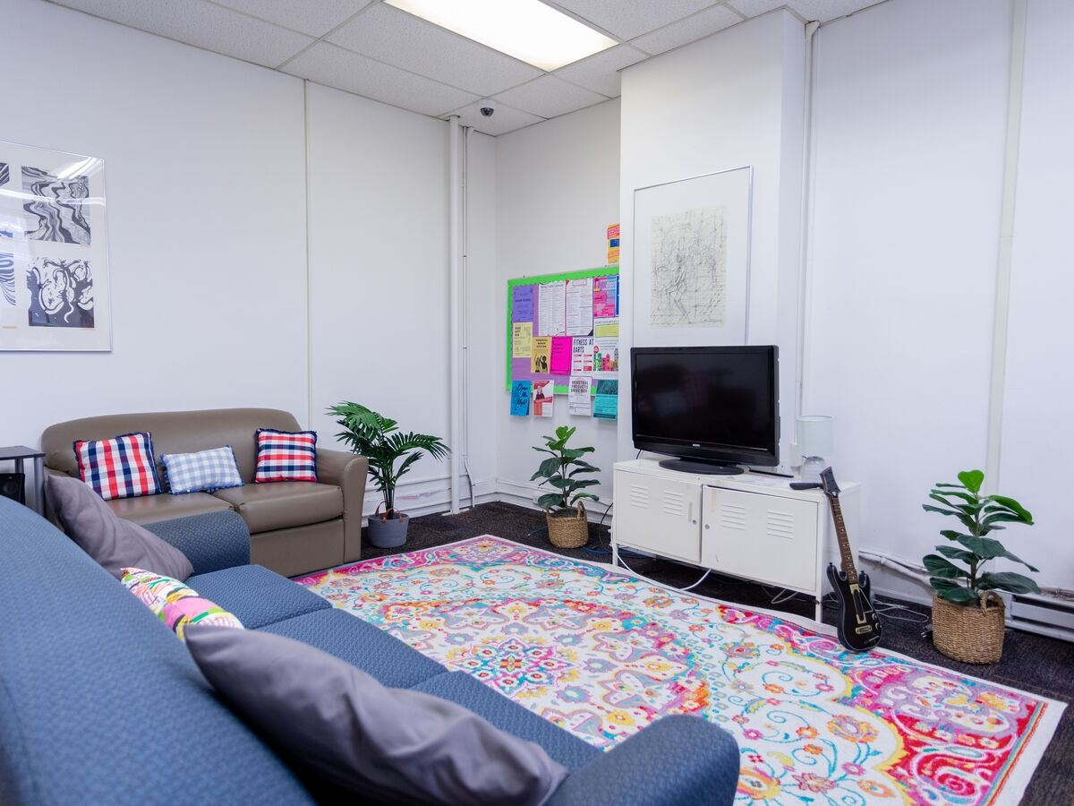 Juniper residence hall lounge.