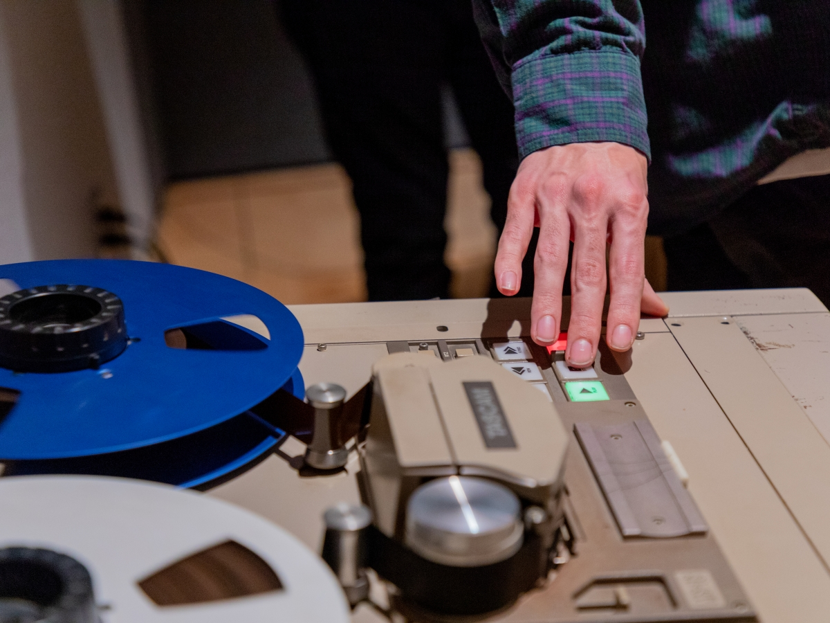 Analog Recording class with Brian McTear