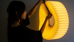 Student works on a product design light