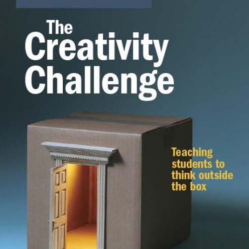 A magazine cover, showing a cardboard box with an open door on the side.