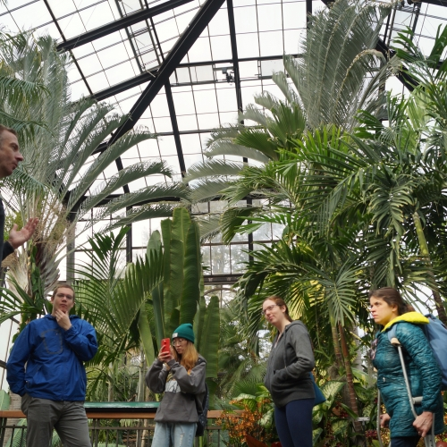 Museum Studies students on site visit to Longwood Gardens in Philadelphia.