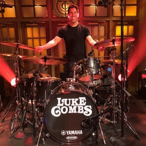 Jake Sommers playing for Luke Combs on SNL